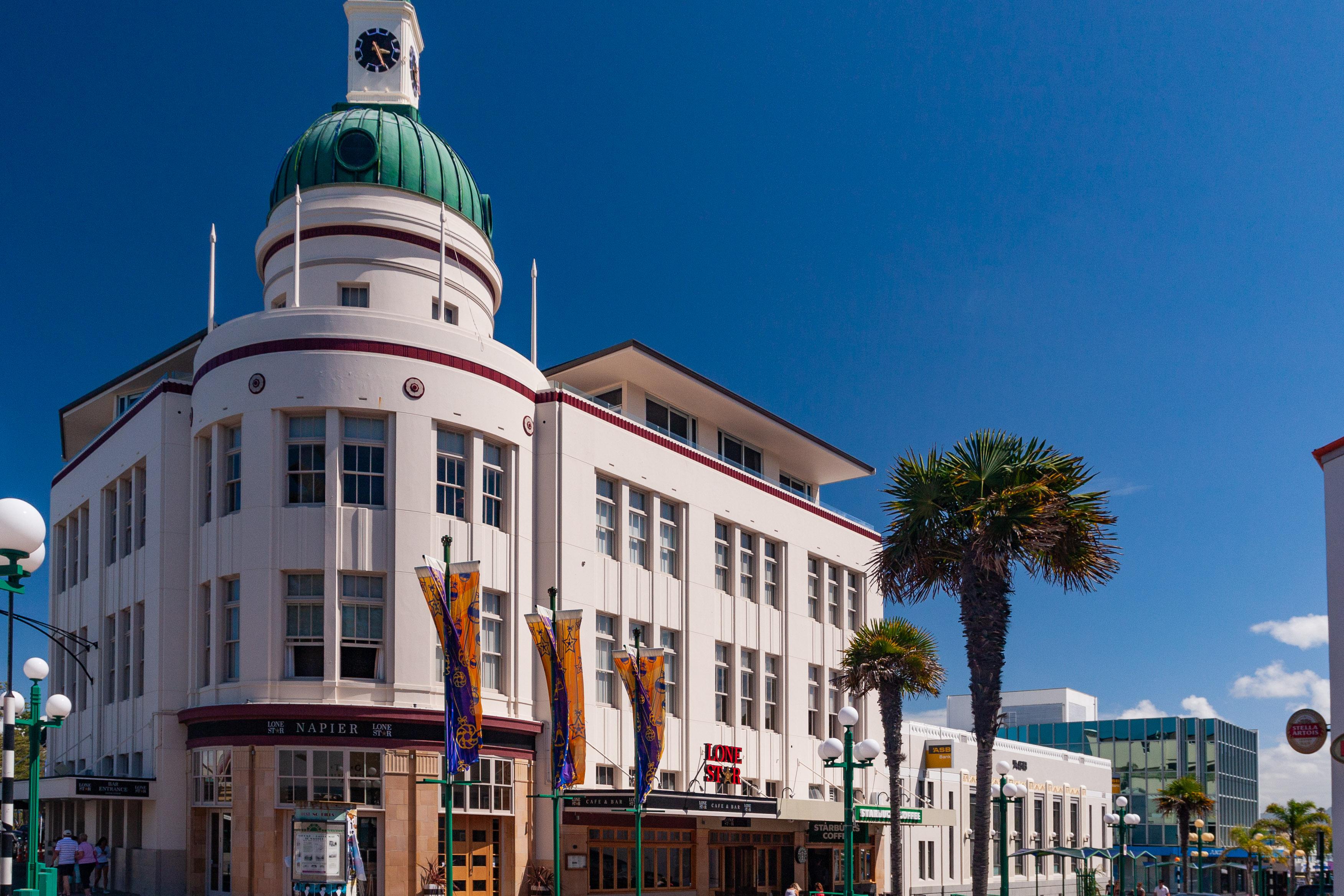 Art Deco Building in Napier, NZ