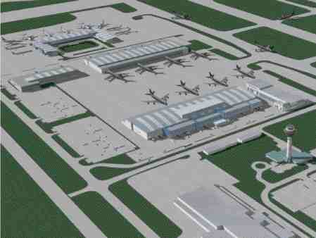 Arial View of Airport