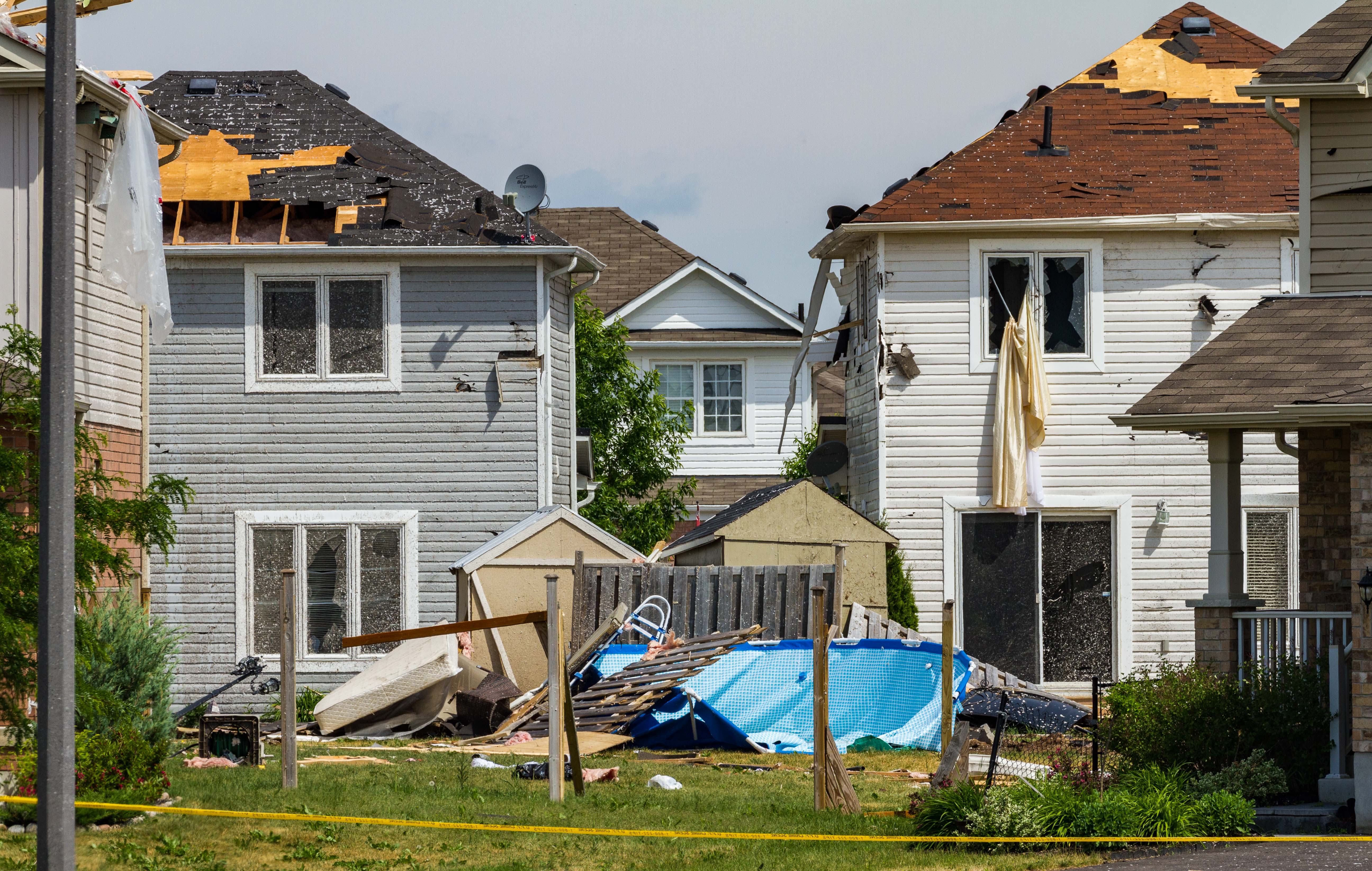 Roof and Yard Damage
